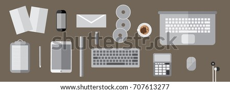 smartphone  laptop  coffee mug