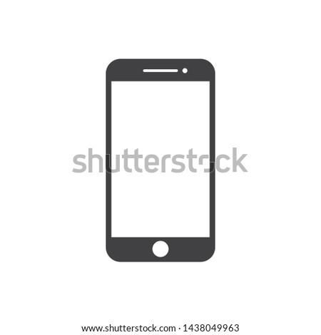smartphone logo icon. vector illustration. design template.