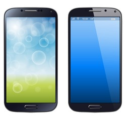 Smartphone, mobile phone isolated, realistic vector illustration.