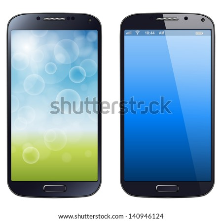 Shutterstock Smartphone, mobile phone isolated, realistic vector illustration.