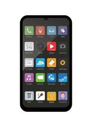 Smartphone, mobile phone vector icon
