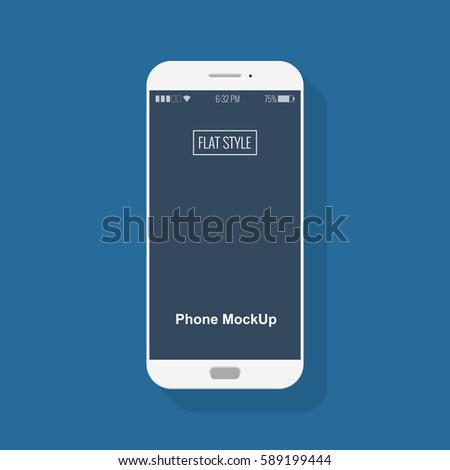 smartphone mockup in flat