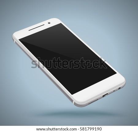 Smartphone mockup vector realistic. Vector illustration.