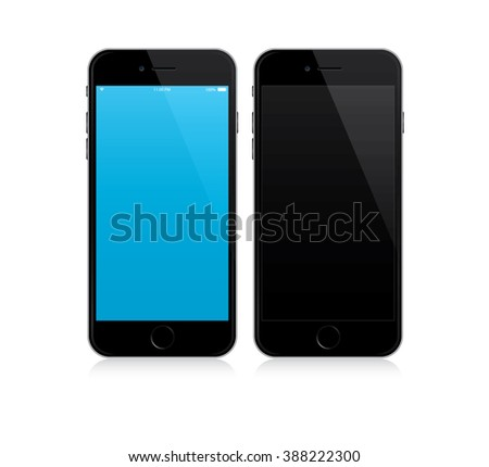 smartphone mockup with blue and