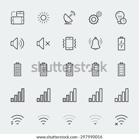 smartphone notification vector
