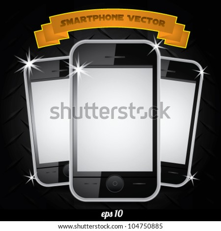 smartphone realistic vector  white screen