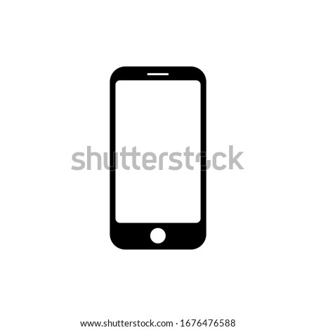 Smartphone sign symbol isolated on white background. icon Vector EPS 10