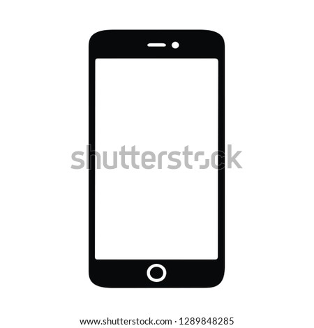 smartphone silhouette isolated