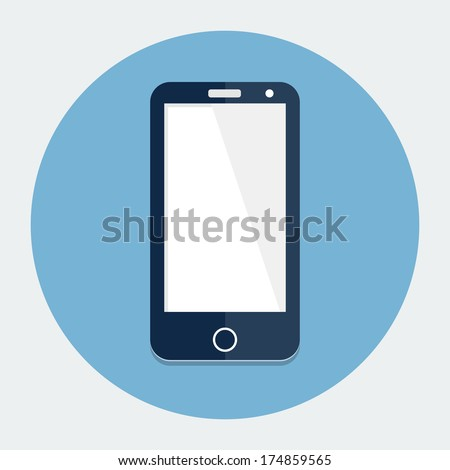 Smartphone single flat icon