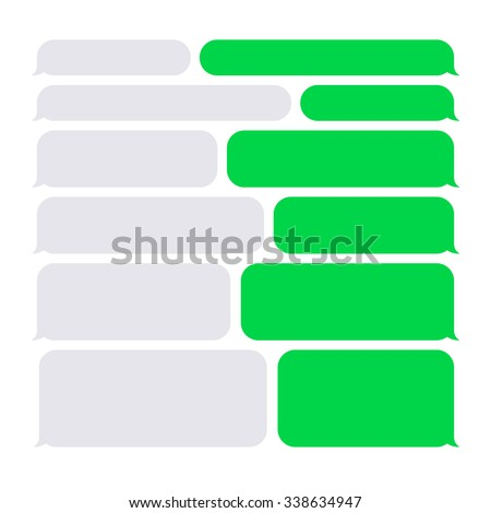 Smartphone SMS Chat Bubbles Set. Vector