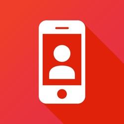 Smartphone, social icon. Phone contact Icon
