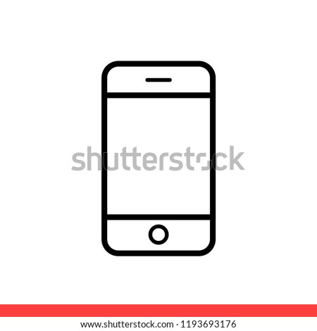 Smartphone vector icon, phone symbol. Simple, flat design for web or mobile app