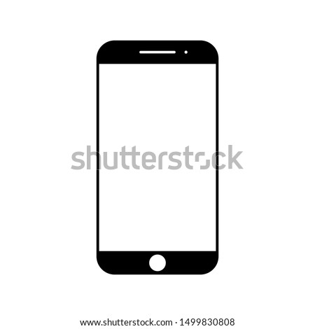 Smartphone Vector Icon with White Background. Smartphone Icon. Smartphone Vector