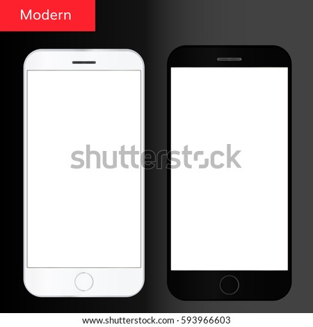 Smartphone vector realistic. Mobile phone. Smartphone isolated on white. Modern mobile phone.