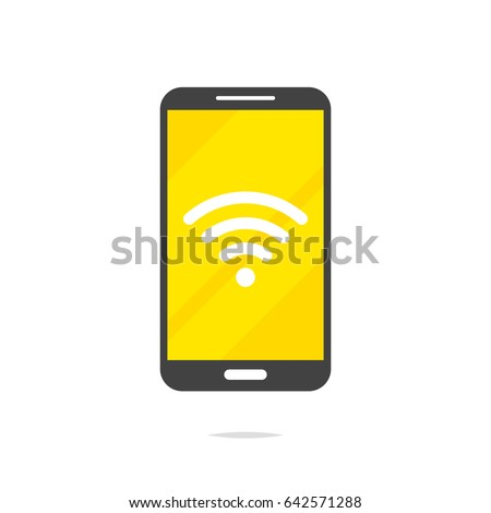 Smartphone wifi signal sign vector
