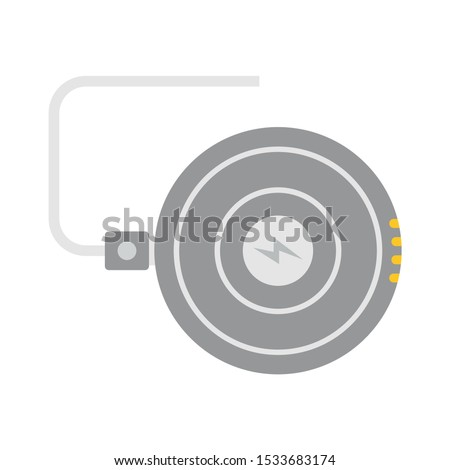 Smartphone wireless charger icon. Flat illustration of smartphone wireless charger vector icon for web design
