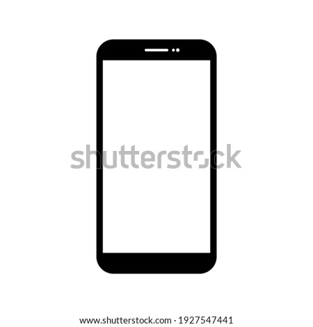 smartphone with blank white screen with blank white screen isolated on white background. vector illustration