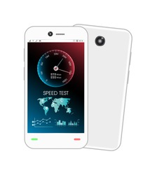 smartphone with speed test interface