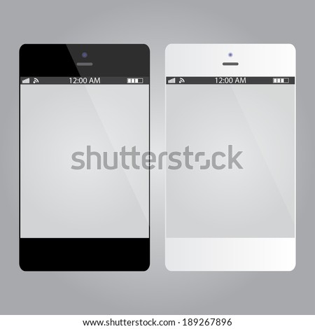 Smartphones For Your App | Black And White #189267896