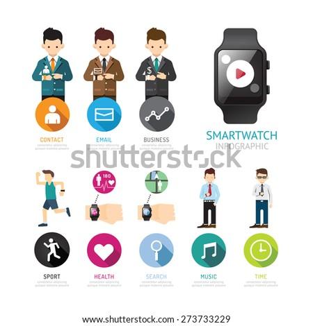 smartwatch infographic menu