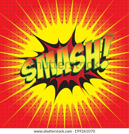 vector images illustrations and cliparts smash wording comic