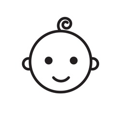 smile baby outline icon style design