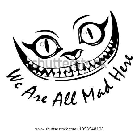 smile cheshire cat alice in