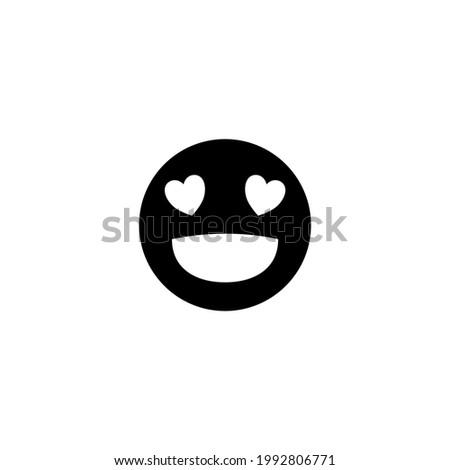 Smile Emoticon Icon.  Vector illustration for graphic design, Web, UI, app.