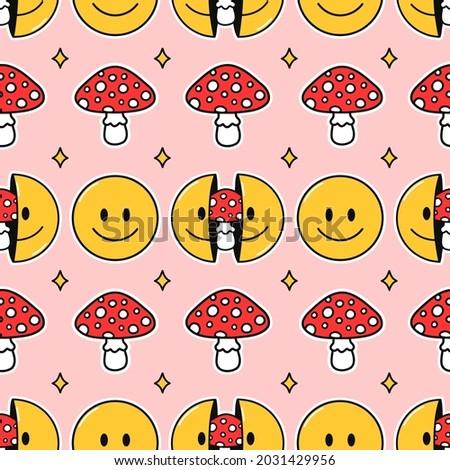 smile face  amanita mushroom