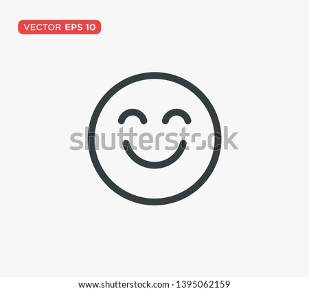 smile face emoticon icon vector