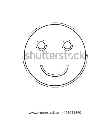 Smile face grunge icon symbol Emoji