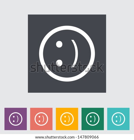 Smile flat icon. Vector illustration.