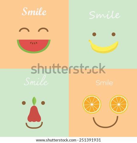 smile fruit lovely pastel