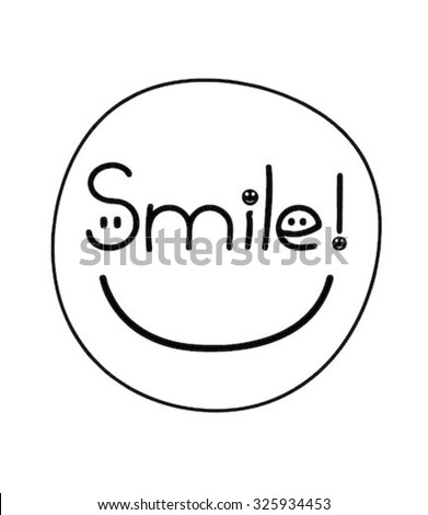 smile graphic for t shirt