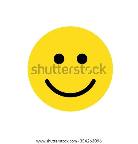 Smile icon for web and mobile