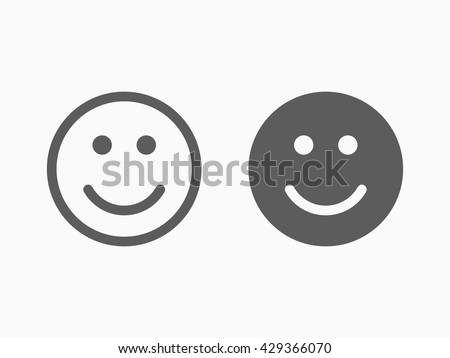 smile icon in trendy flat style