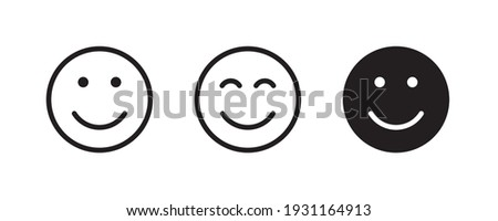 Smile Icon in trendy flat style isolated on white background. Happy face, smiley face icons