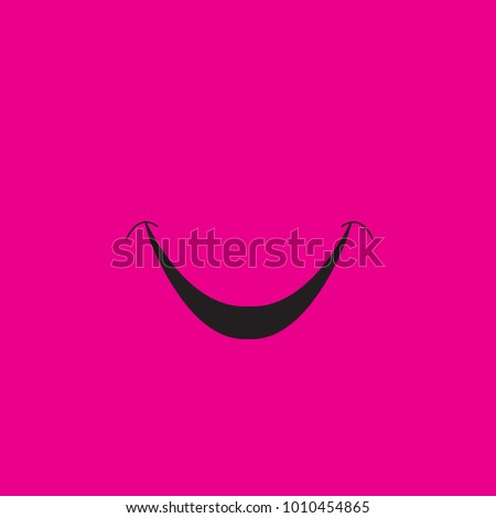 Smile icon isolated on magenta background.Trendy smile icon in flat style.
