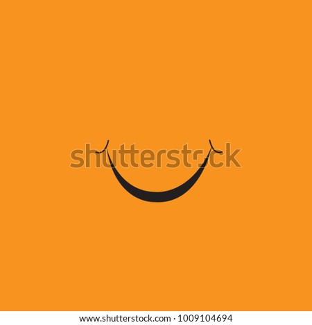 Smile icon isolated on orange background.Trendy smile icon in flat style. Template for app, ui and logo. Icon smile for your web site. Modern smile icon, EPS 10