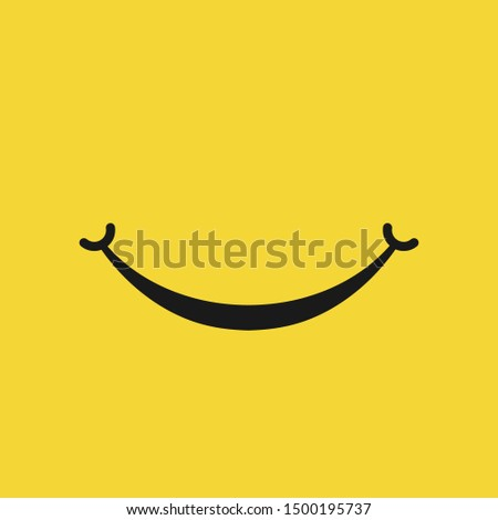 Smile icon isolated on white background. Vector illustration. Eps 10.