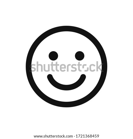 Smile icon vector. Face emoticon sign