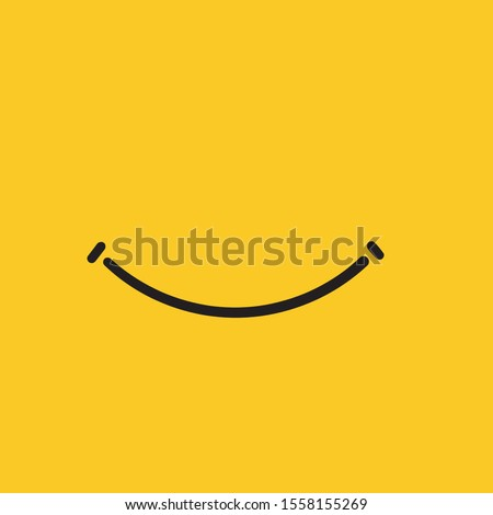 Smile icon vector graphic design symbol or logo with hand drawn doodle style