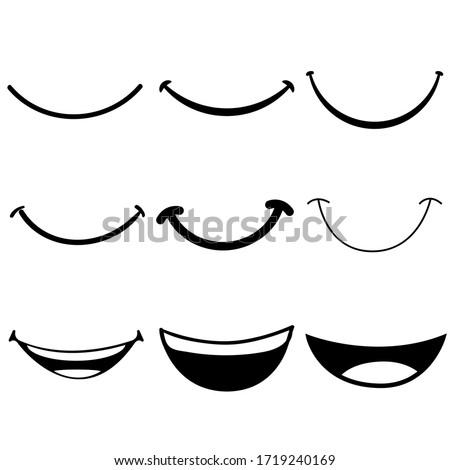 Smile icon vector set. happy illustration sign collection. laugh symbol. Foto stock ©