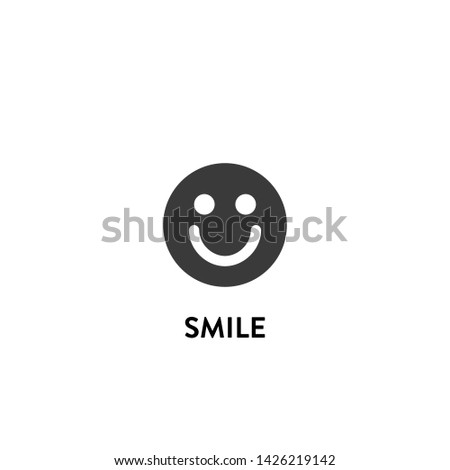 smile icon vector. smile vector graphic illustration