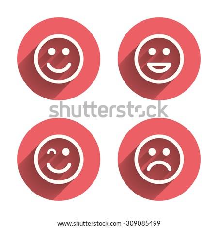 smile icons happy  sad and