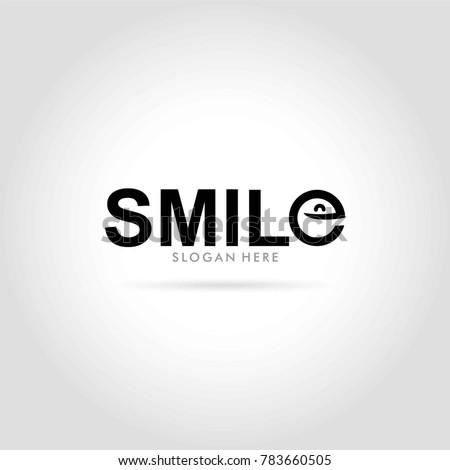 smile logo typography vector illustration