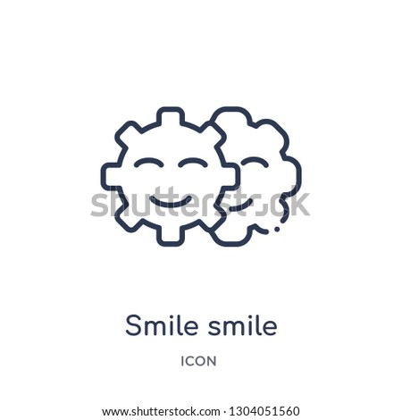 smile smile icon from user interface outline collection. Thin line smile smile icon isolated on white background.