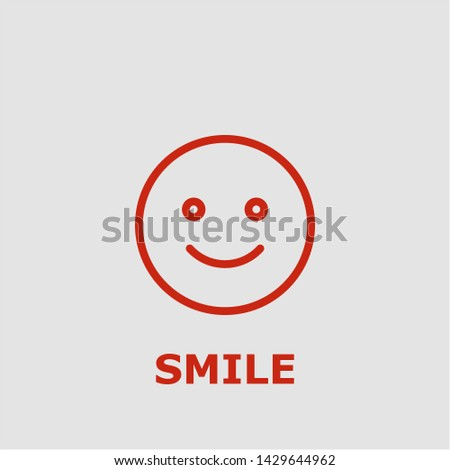 Smile symbol. Outline smile icon. Smile vector illustration for graphic art.