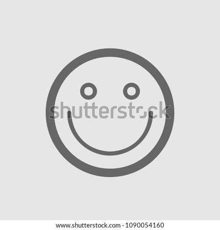 Smile vector icon. Emoticon simple isolated pictogram.