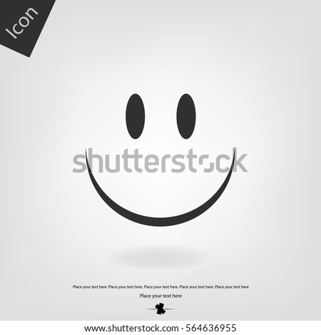 smile vector icon happy sign
